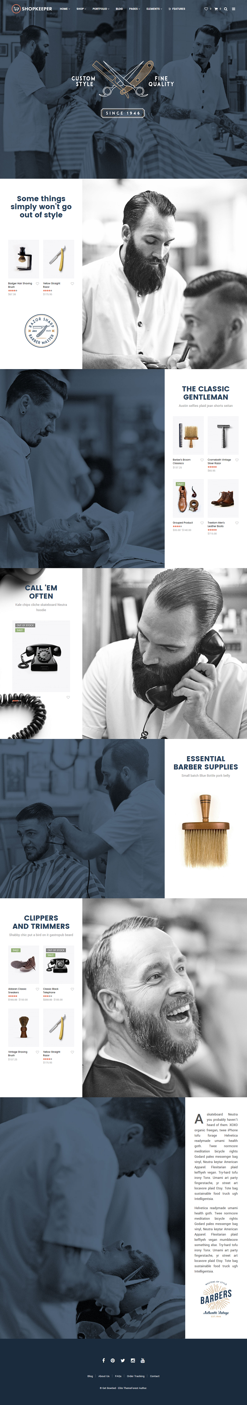 shopkepper for web design inspiration