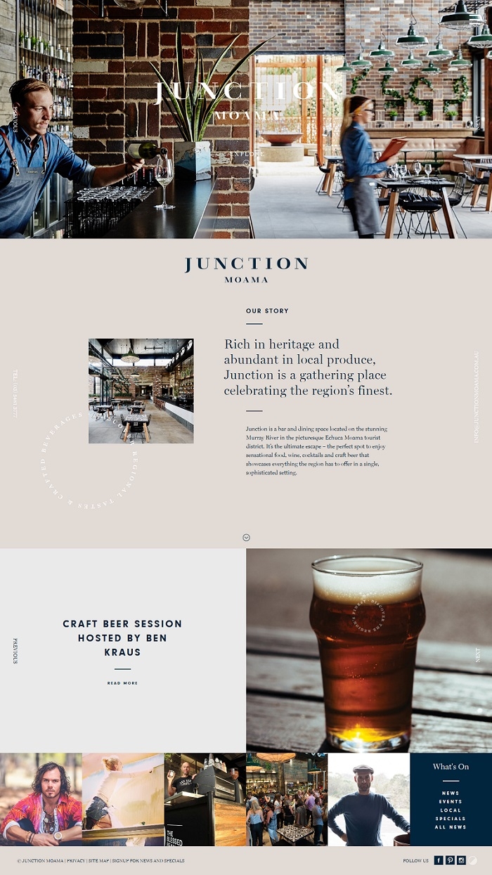creative pub cafe website