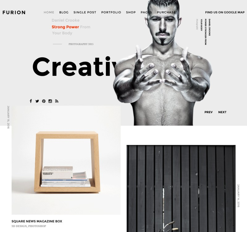 Furion WordPress Portfolio