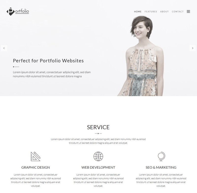 modern portfolio theme from creative market