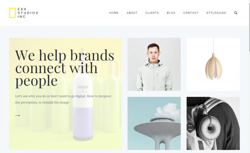 creatie portfolio wordpress theme