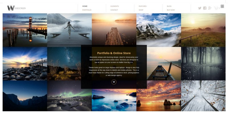 fullscreen portfolio for wordpress