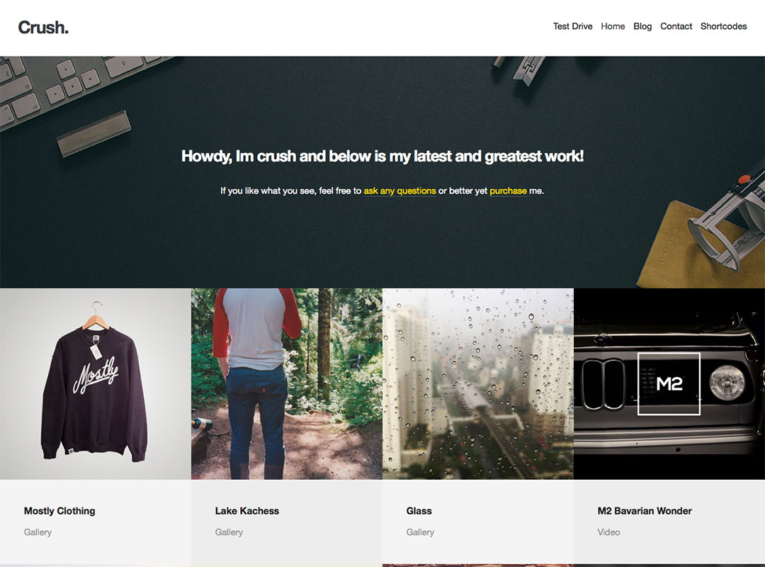 portfolio wordpress
