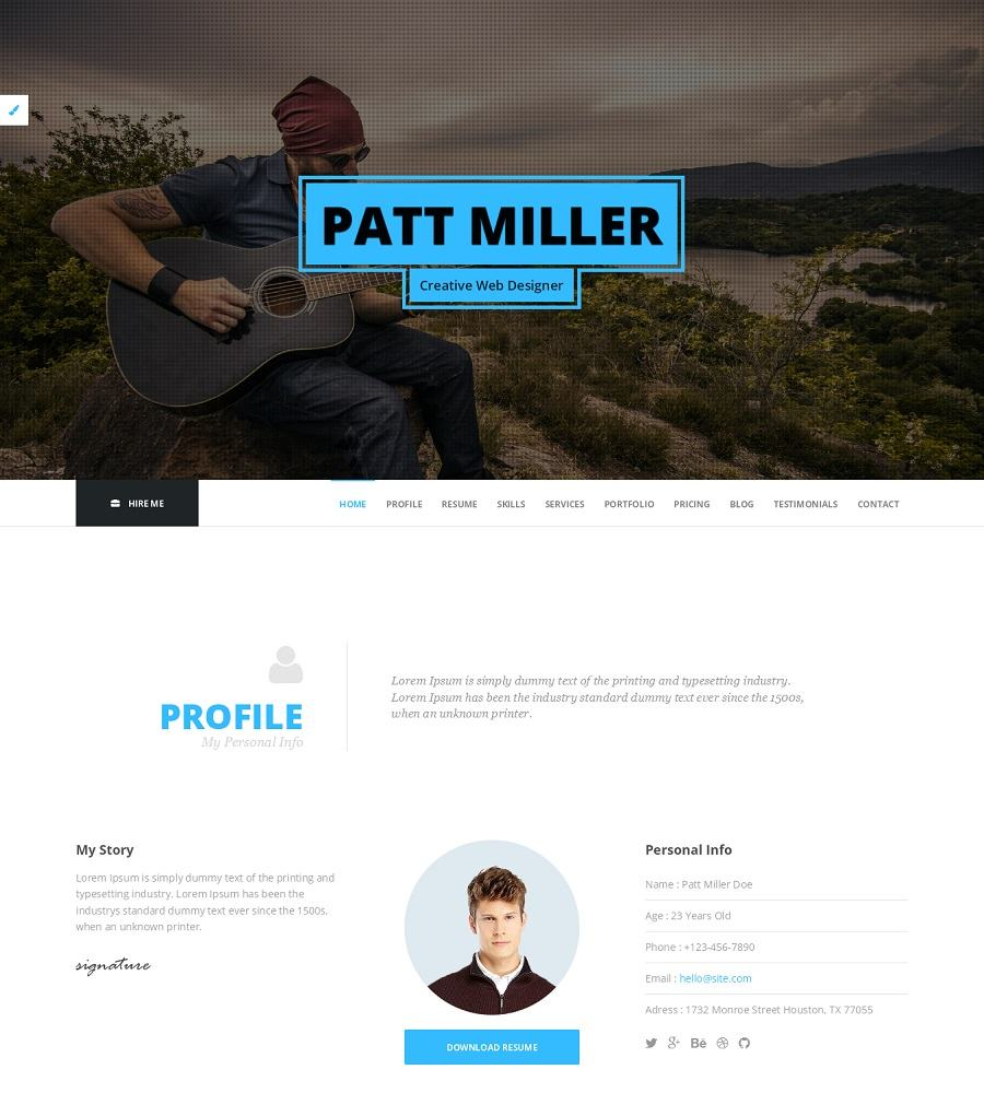 wordpress portfolio template