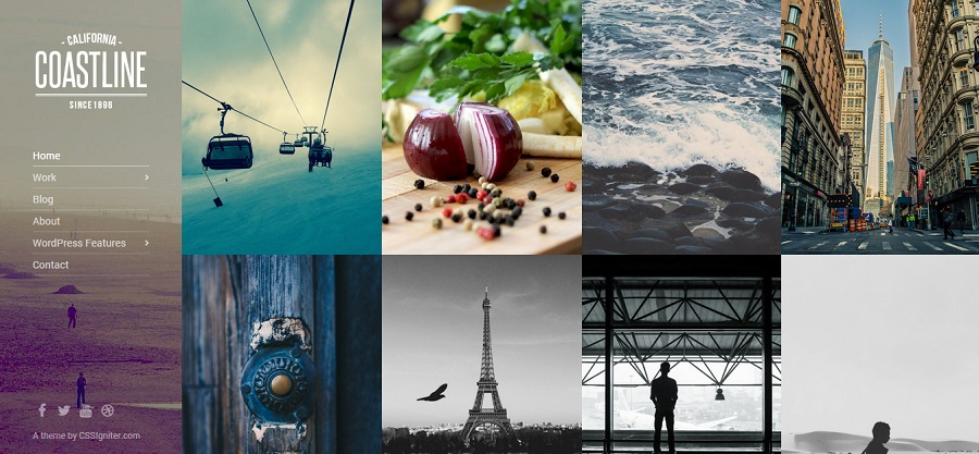 Coastline – A WordPress Theme for Creative Professionals