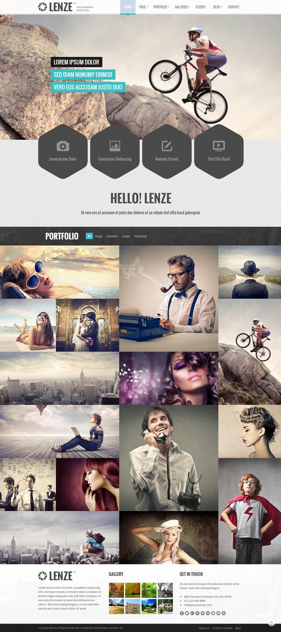 photography wordpress portfolio