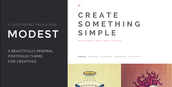creative minimal wordpress portfolio