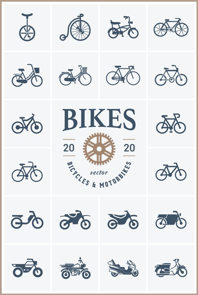 bike-vector-icons