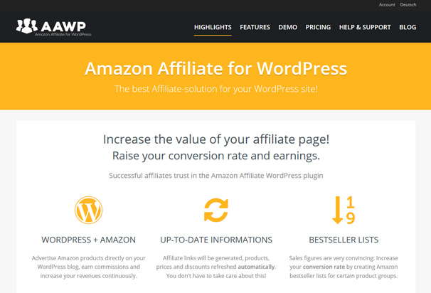 best amazon affiliate wordpress plugin