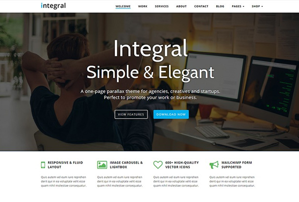 Integral Theme Review: A Free One-Page Parallax theme for ...